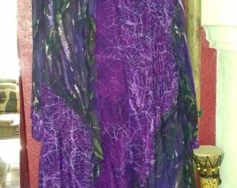 Batik style,light weight, waterfall coat