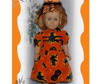 """Dress fits 20"""" Tall Talking Chatty Cathy Size Dolls. Dress &  Optional add- on Stuffed Pumpkin for her head or arm. Handmade Clothes."""
