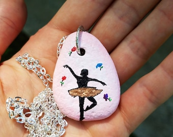 Ballerina rock pendant necklace