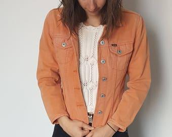 Vintage jacket / Teddy smith / orange / size S