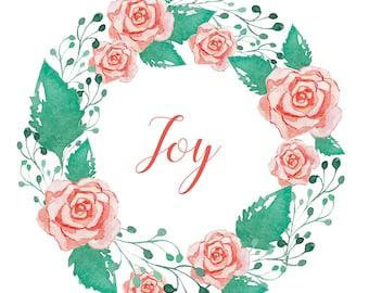 Joy Wreath - Digital Print