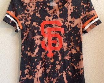 Tie Dye San Francisco Giants Women's Vneck Shirt