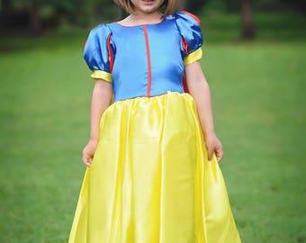 Snow White Dress / Disney Princess Dress Inspired Costume Ball Gown - Classic - Kids, Girls, Toddler, Child, baby