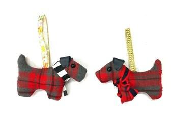 Christmas ball decoration fabric terrier dog