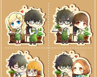 PREORDER - Persona 5 Couples Cafe Wooden Charms