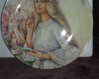 The Love Letter-Portraits of First Love. Wedgewood & Barleston Collector Plate Made in England. Wedgewood Queen's ware 1986