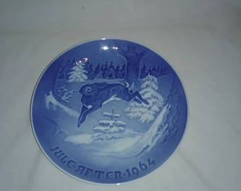 "Vintage Collector Plate By H. C. Anderson & Kjodenhavn, 1964 ""Grantraeet""  B and G"