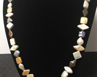 Multi- shaped Freshwater Pearl Necklace