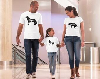 Wolf Pack Shirts,Mama Wolf,Papa Wolf,Baby Wolf,Matching family,Family shirt,Couples Tshirt,Matching Family Shirt,Matching Outfits