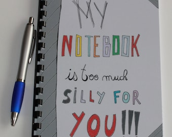 small notebook personalized 14.5x20cm.