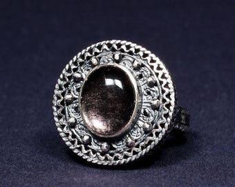 Silver ring filigree P124-10g
