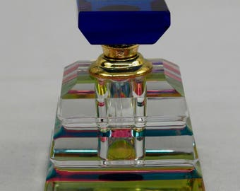 Square Shapped Glass Perfume Bottle With Stopper