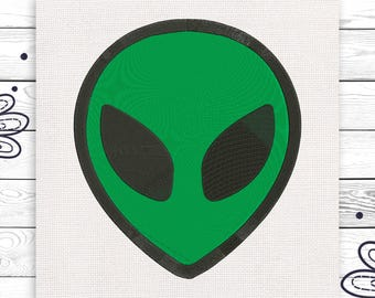 UFO embroidery Space Alien Discount 10% Digital machine embroidery design 4 sizes INSTANT DOWNLOAD EE5053
