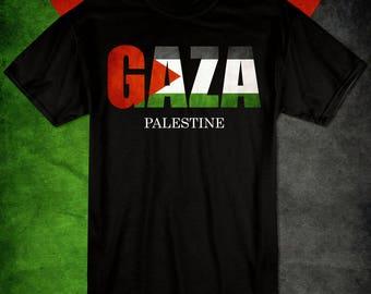 Free Gaza Free Palestine Flag T-shirt