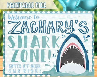 Shark Birthday Sign Shark Party Sign Shark Party Decorations Shark Welcome Sign Shark Sign Shark Decorations Shark Decor Shark Printables