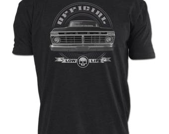 Ford Truck Low Life T-Shirt 1973-1975 Grill Tee F100-F350