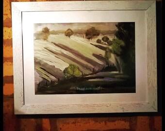 Oil on wood Plein Air artwork, Impressionism