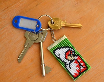 White Mage - Final Fanasy - Bead Keyring - Keychain