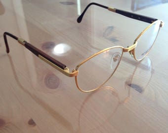 Vintage 22k Gold plated Woodlook 3902 Frames (eyeglasses/sunglasses)