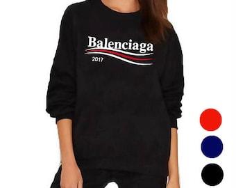 balenciaga hoodie womens grey