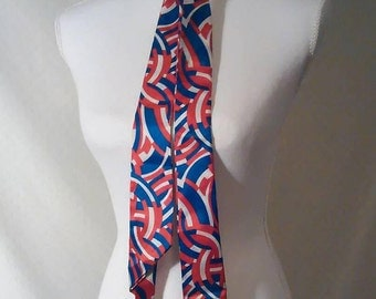 Vintage 1970s red, white, and blue scarf/belt