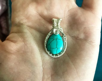 Faux Turquoise Mini Pendant