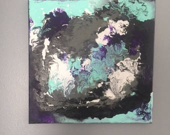 Abstract Marbling Effect Canvas