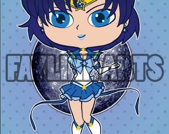 Sailor Moon - Sailor Mercury - Chibi Style