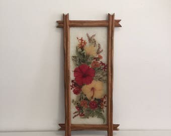 Tropical Pressed Flowers Wall Hanging