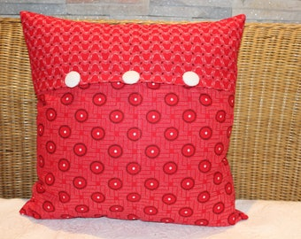 African christmas decor, African print fabric, Red decorative pillow, Red white cushion, Throw pillow, Scatter cushion, Christmas decor,