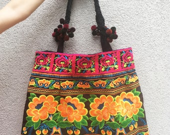 Techno-colored Embroidered Bag from Vietnam