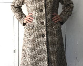 1960's Van Ziang Winter Jacket | Vintage Wool Coat | Women's 60's Winter Jacket | 60s Winter Coat
