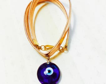 Evil eye GOLD choker