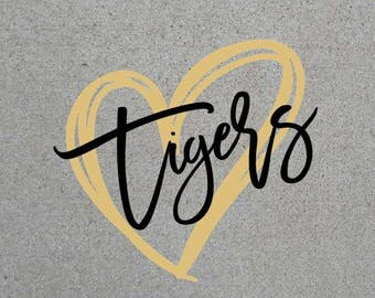 Tigers Heart SVG