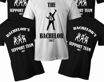 Bachelor Support Team T shirt Mens stag do t shirt Mens Bachelor party