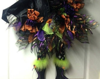 Whimsy Wendy the Witch Halloween Wreath