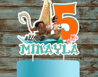 Moana Cake Topper, Moana Cake Topper, Printable Moana Centerpiece, Moana Birthday Party Decorations, Moana Centerpieces, Moana Cake