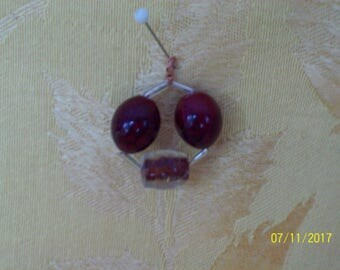 red glass bead pendant
