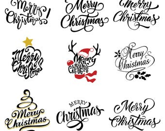 Merry Christmas Svg/Eps/Png/Jpg/Cliparts,Printable, Silhouette and Cricut File !!!
