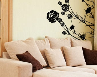 Grass Wall Decal Etsy - Wall decals in pakistanblack flowers removable wall stickers wall decals mural home art