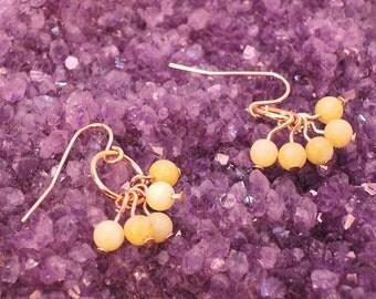 The Bibury Earrings in Peridot Jasper