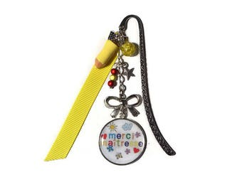 "Bookmark ""Thank you teacher"" teacher gift - end of year gift"