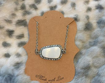 White Natural Shell Necklace