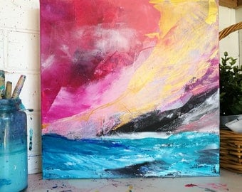 """Painting on canvas """"Fire Sky"""""""