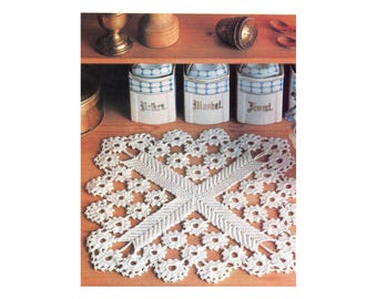 Snowflake Doily Mat Crochet Pattern