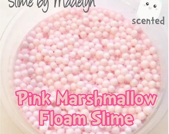 Pink Marshmallow Floam Slime ~ Scented Floam ~ Scented Slime