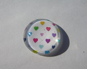 With its hearts 20 mm cabochons