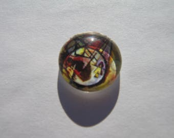 Cabochon 14 mm round domed with its artistic design