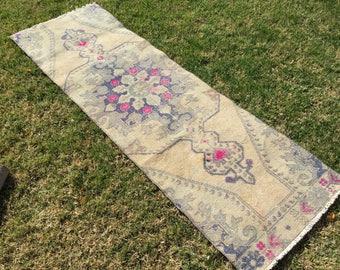 Oushak runner rug,oushak rug,Turkish rug,vintage runner,oushak runner,rug runner turkish vintage rug Kitchen Rug.6'9×2'2/212×70