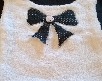 "reversible baby bib for ""little Princess"""